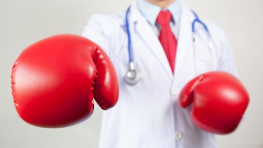 doctor fighting boxing