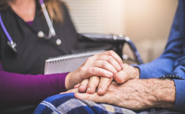 Hospice care, elderly patient