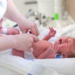 Newborn at hospital.