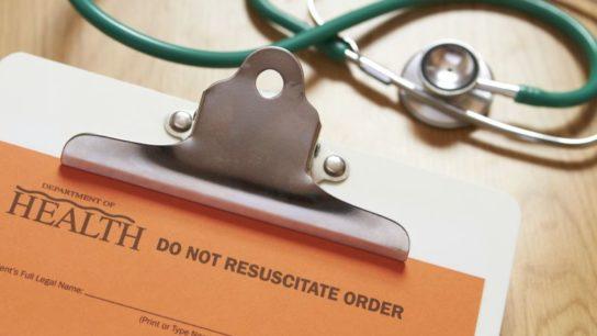 A 'Do Not Resuscitate' order form