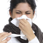 woman sick influenza cold