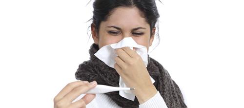 woman sick influenza cold