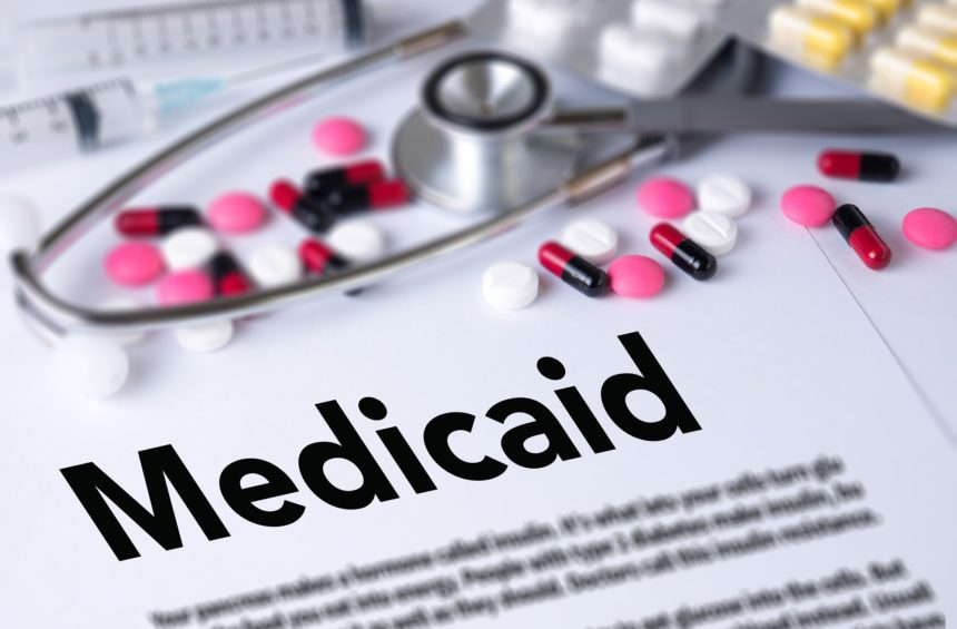 Medicaid, pills, stethoscope