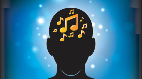 music notes in brain