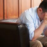 stressed, depressed man