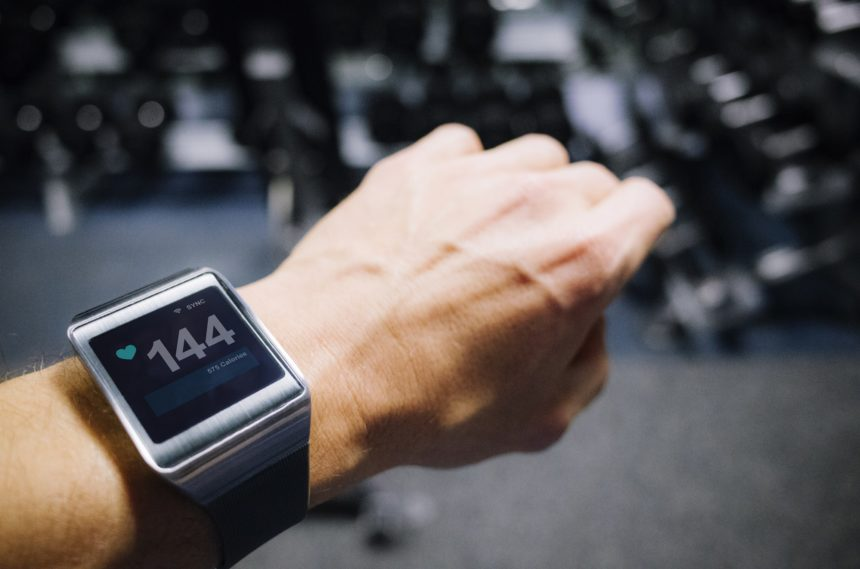 person wearing a smartwatch