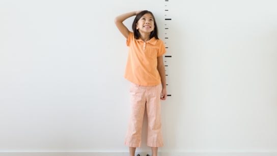 child measuring height