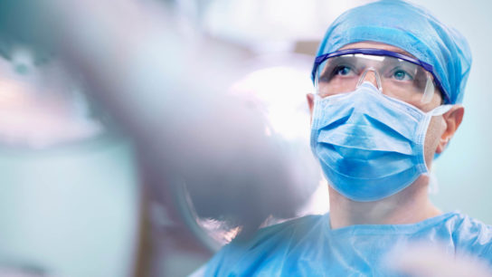 Surgeon in an operating room